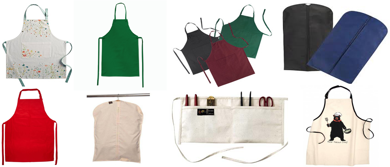 cotton aprons and garment covers