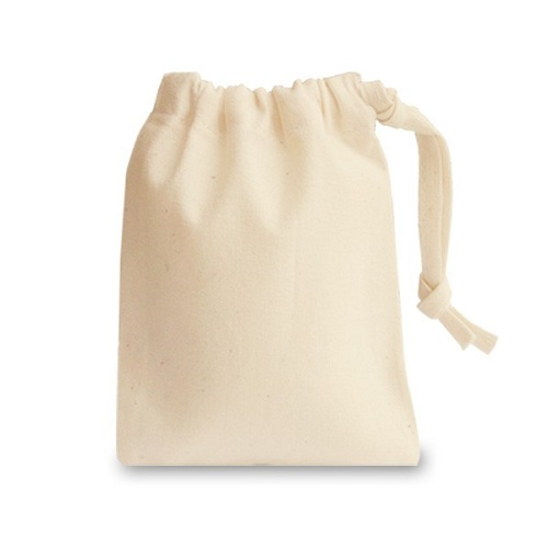 self-material cotton pouch