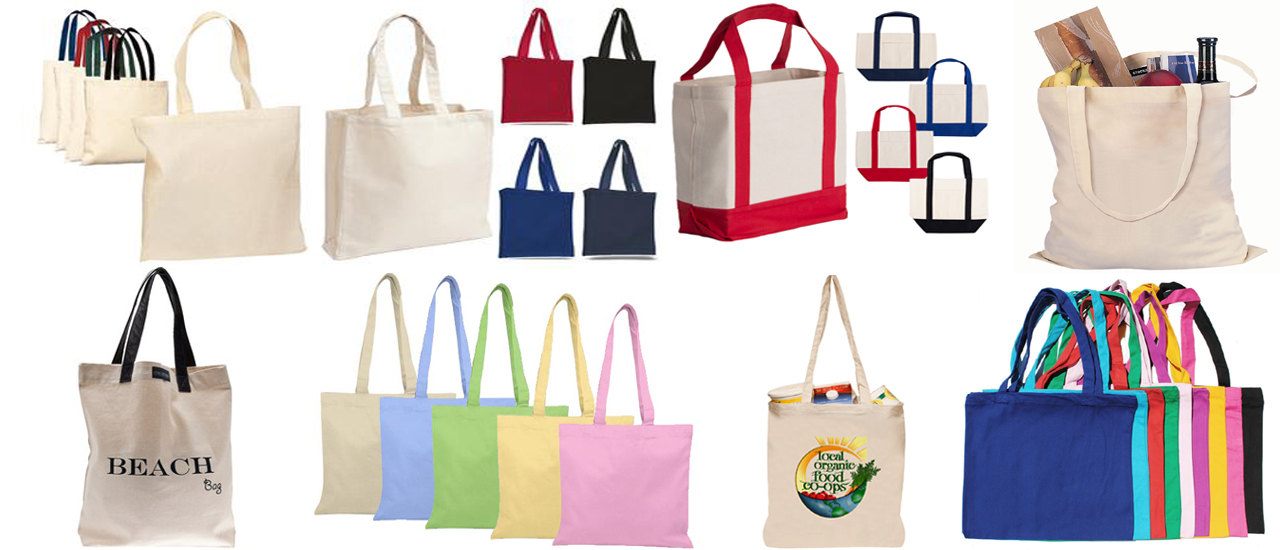 tote bags, shopping bags
