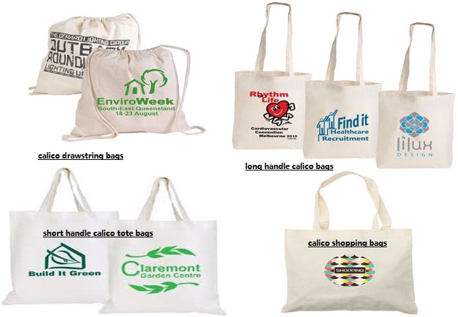 calico bags with logo
