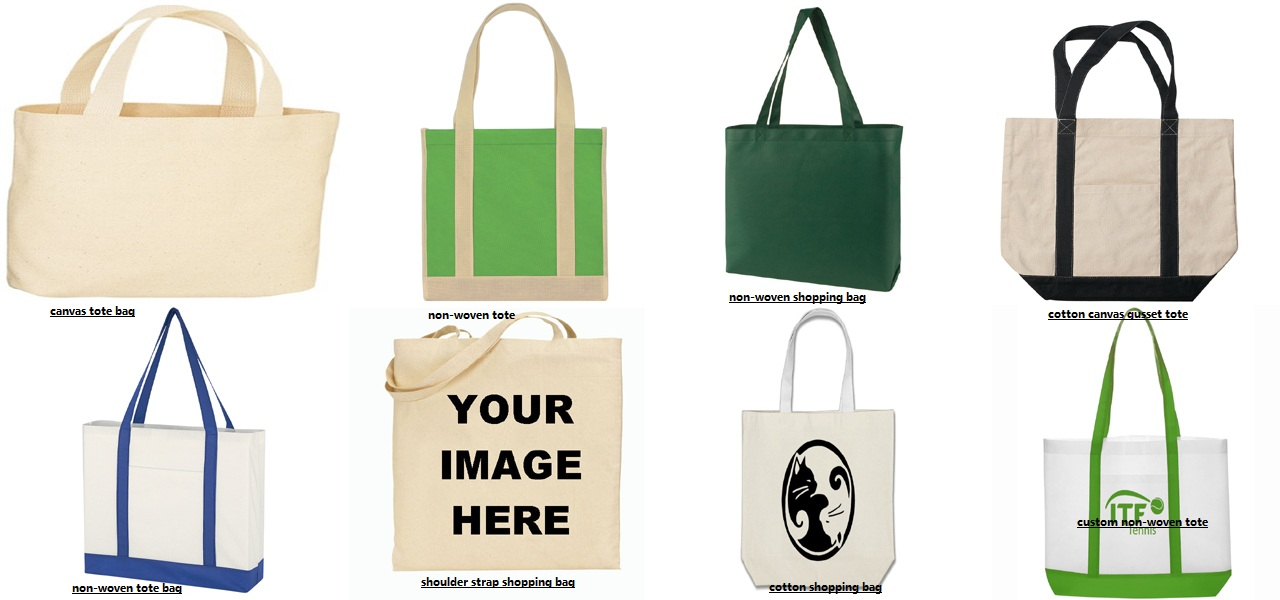 cotton and non-woven tote bags